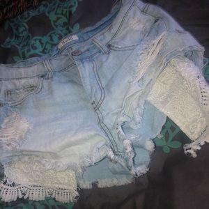 Mudd Blue Jean Shorts Size 7 , EUC